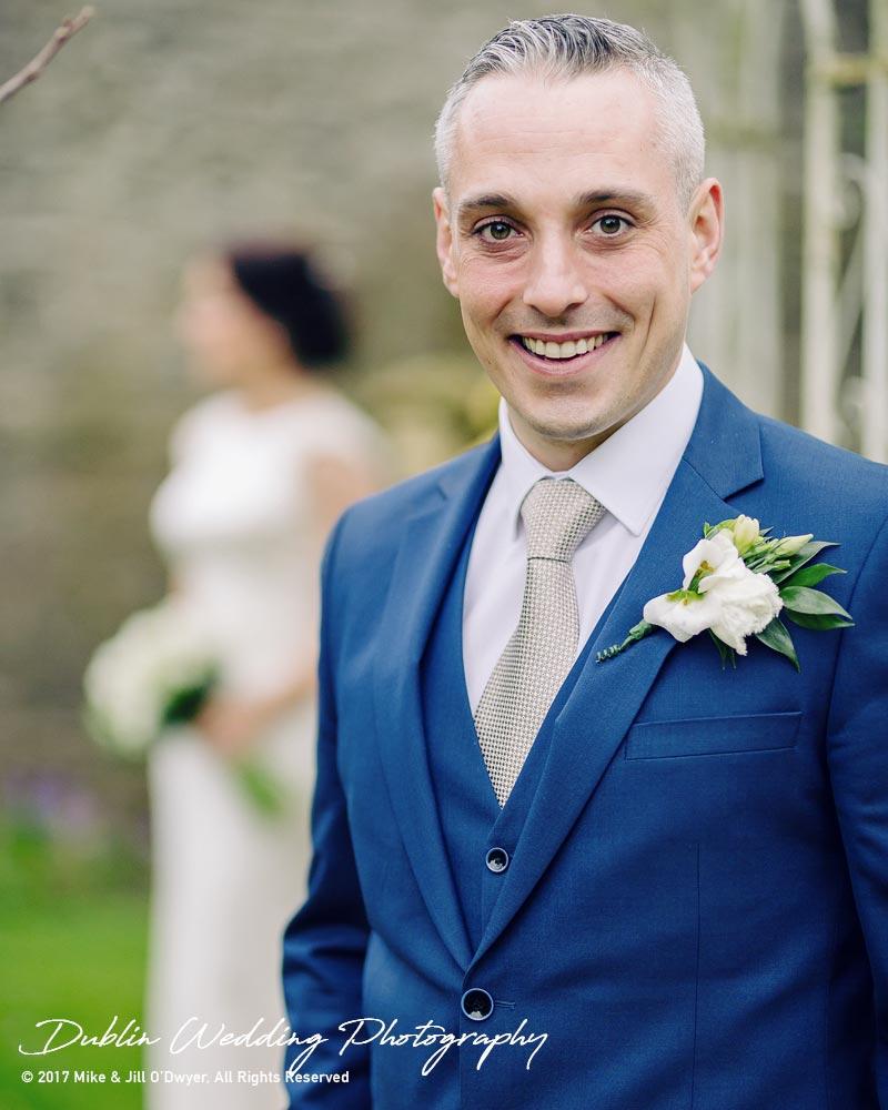 Castle Durrow Wedding Photographer County Laois Groom Potrait