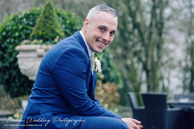 Castle Durrow Wedding Photographer County Laois Groom Headshot