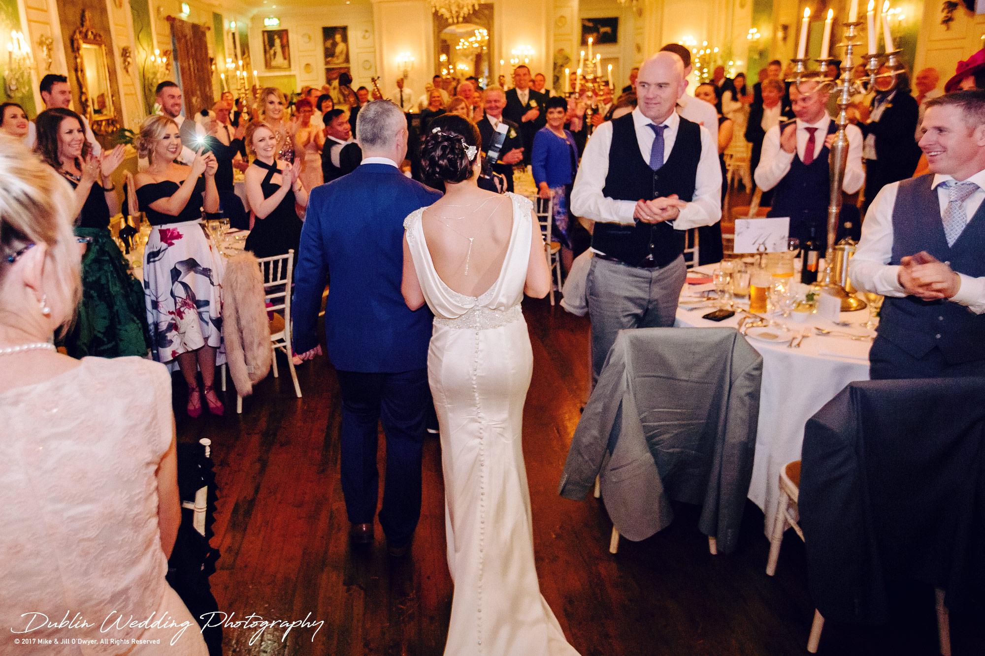 Castle Durrow Wedding Photographer County Laois Bride & Groom Wedding Reception Entrance
