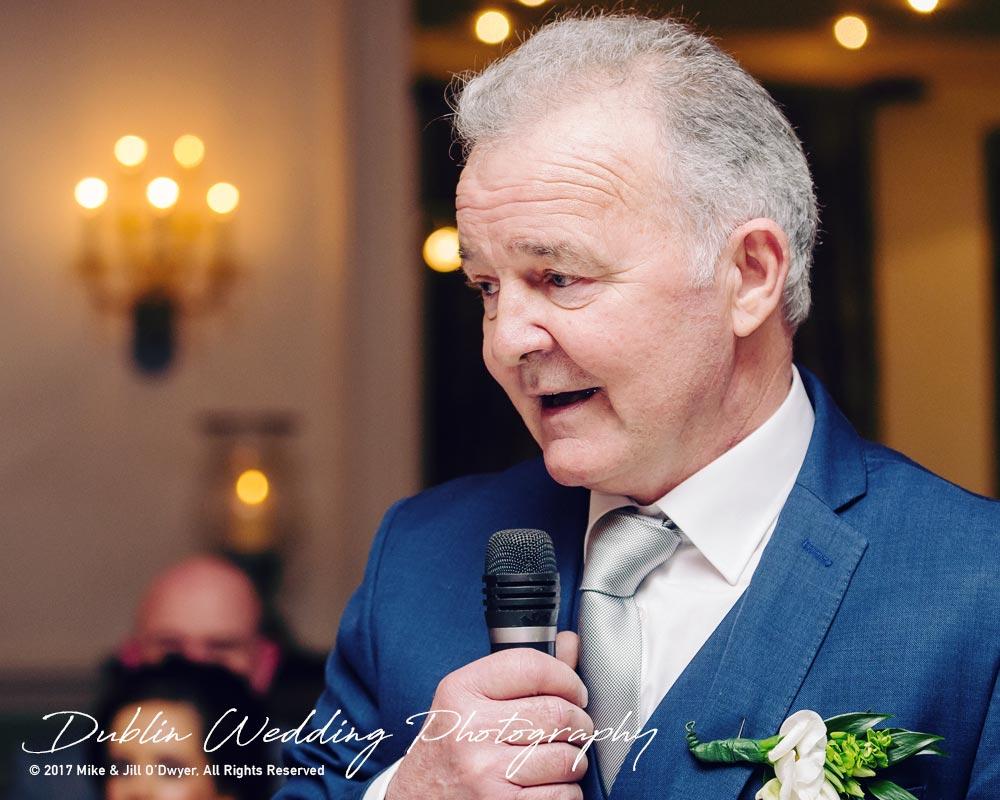 Castle Durrow Wedding Photographer County Laois Speeches Father Bride