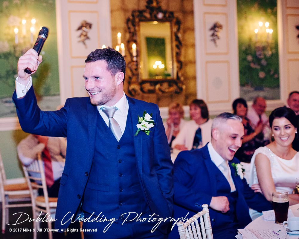 Castle Durrow Wedding Photographer County Laois Speeches Best man