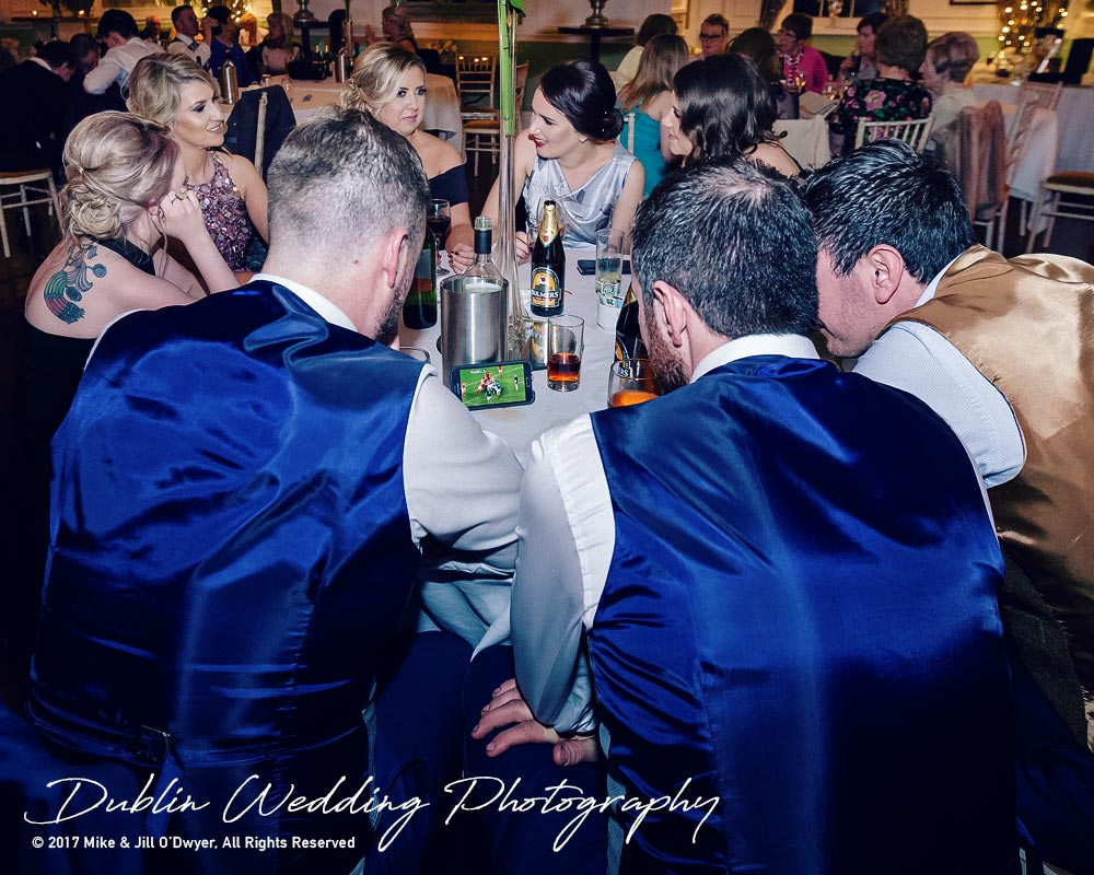 Castle Durrow Wedding Photographer County Laois Watching The Match