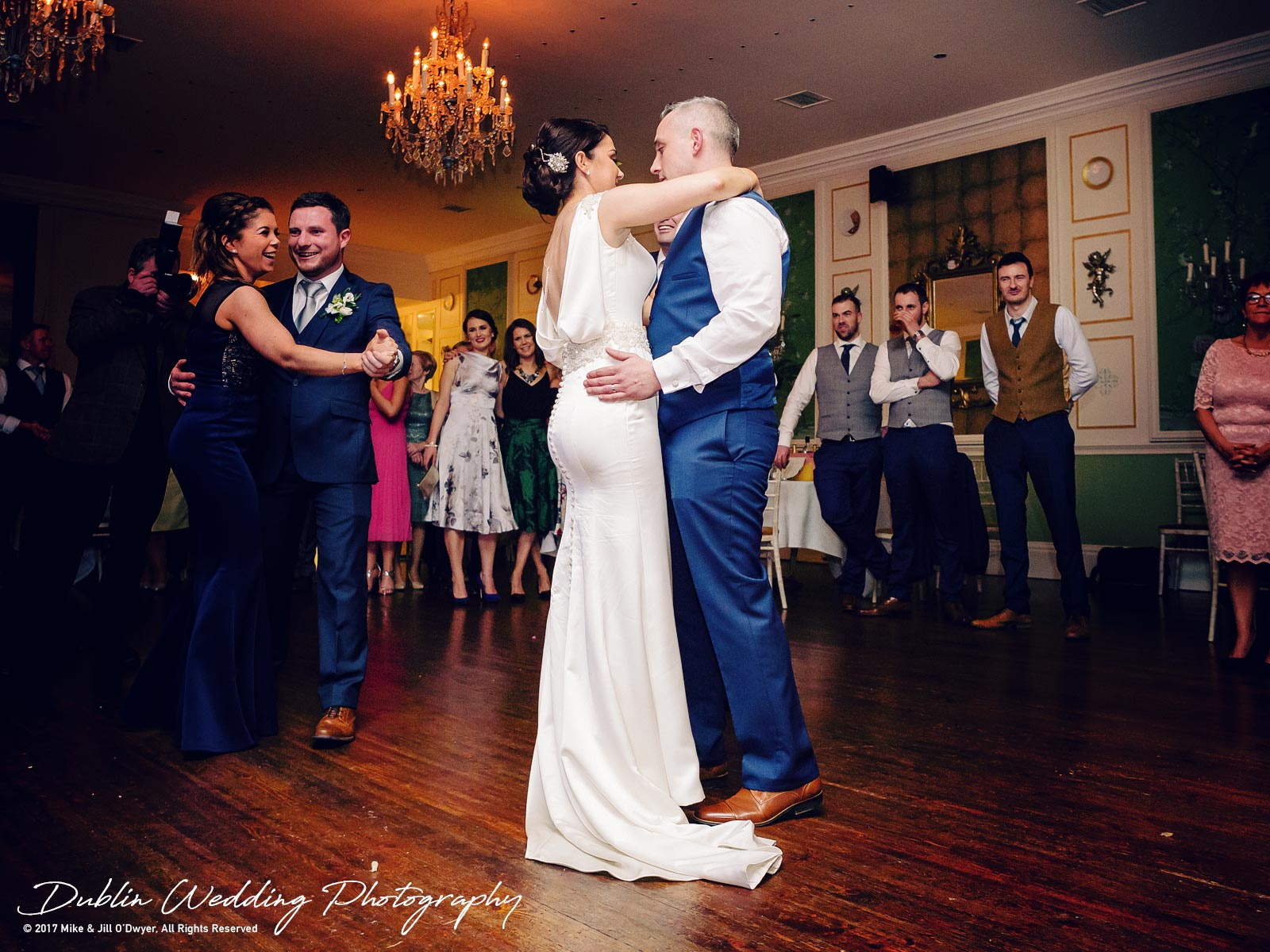 Castle Durrow Wedding Photographer County Laois Dancing Together