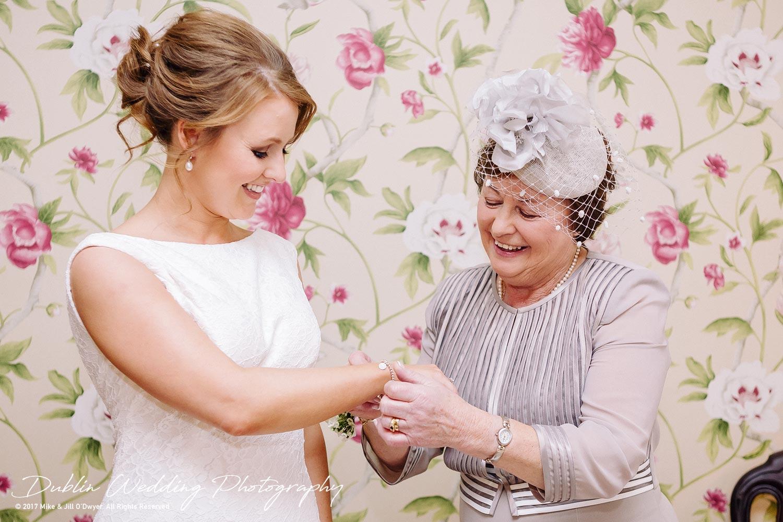 Tinakilly House Wedding Photographer: Bride & Mother
