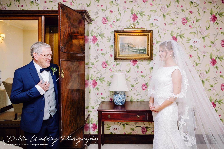 Tinakilly House Wedding Photographer: Bride & father