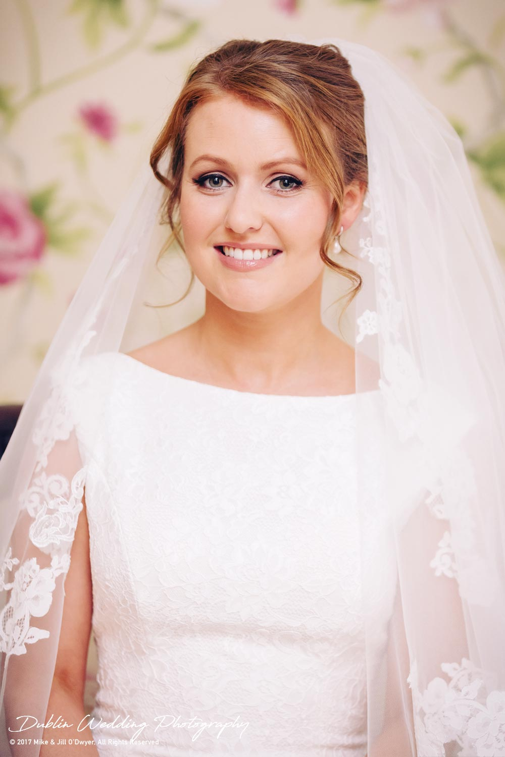 Tinakilly House Wedding Photographer: Bride Portrait in House
