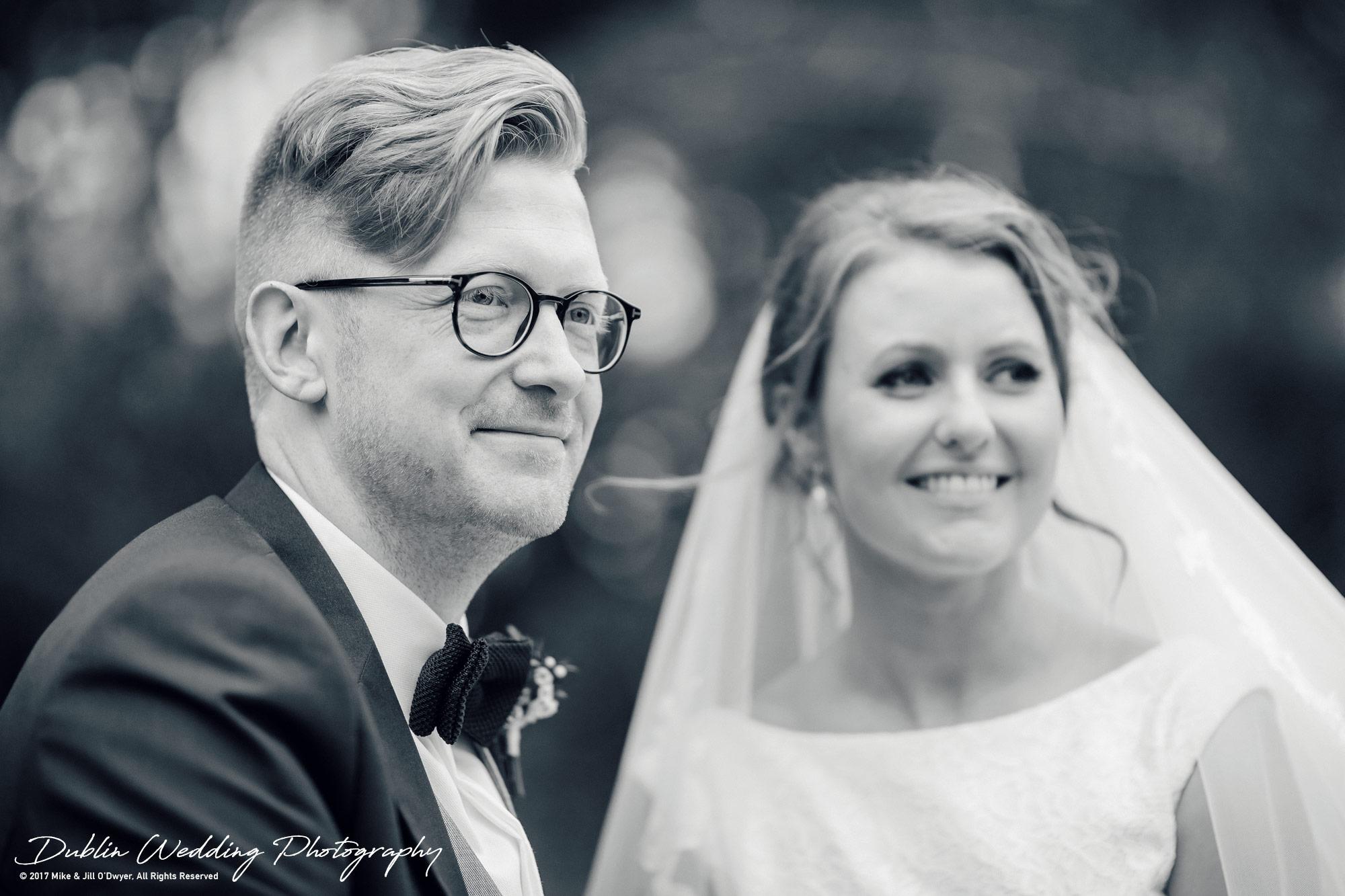 Tinakilly House Wedding Photographer: Bride & Groom portrait together