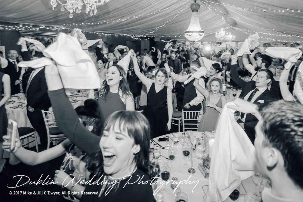 Tinakilly House Wedding Photographer: Bride and Groom Entrance reception