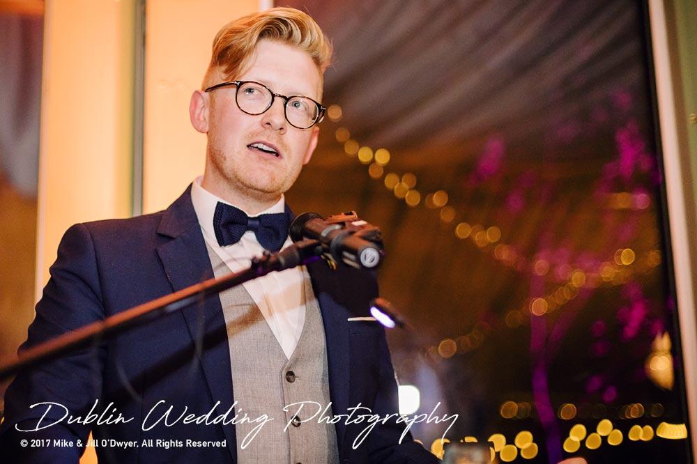 Tinakilly House Wedding Photographer: Groom Speech