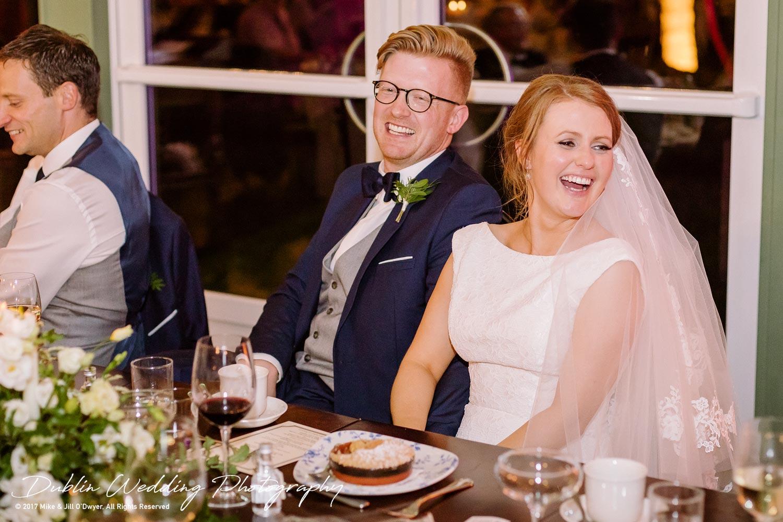 Tinakilly House Wedding Photographer: Bride & Grooms Reaction To Speeches