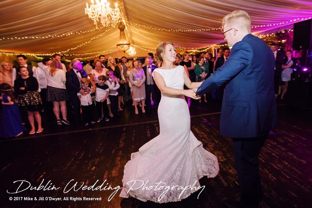 Tinakilly House Wedding Photographer: First Dance Bride & Groom part 2