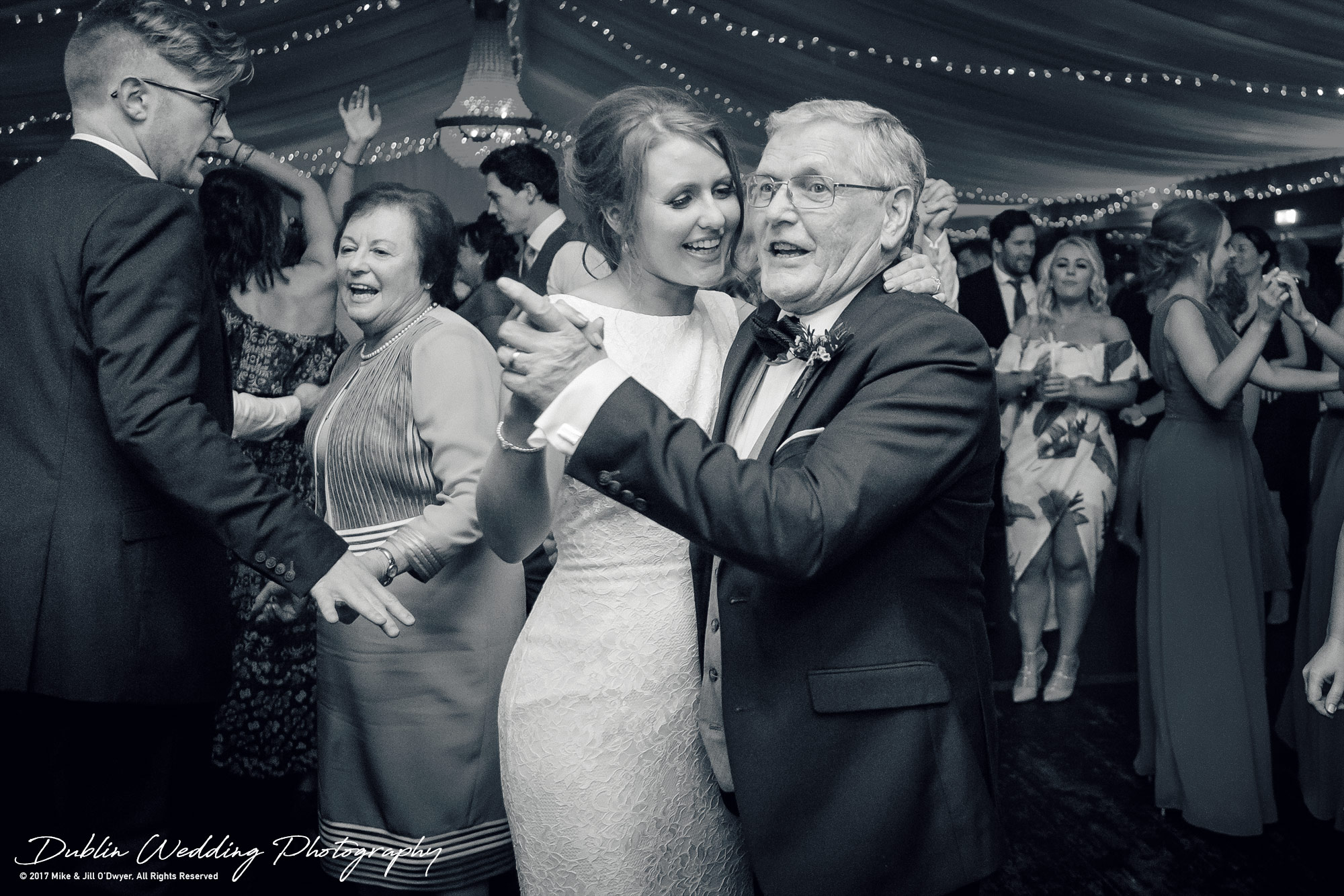 Tinakilly Wedding Photographer: First dances Best dad