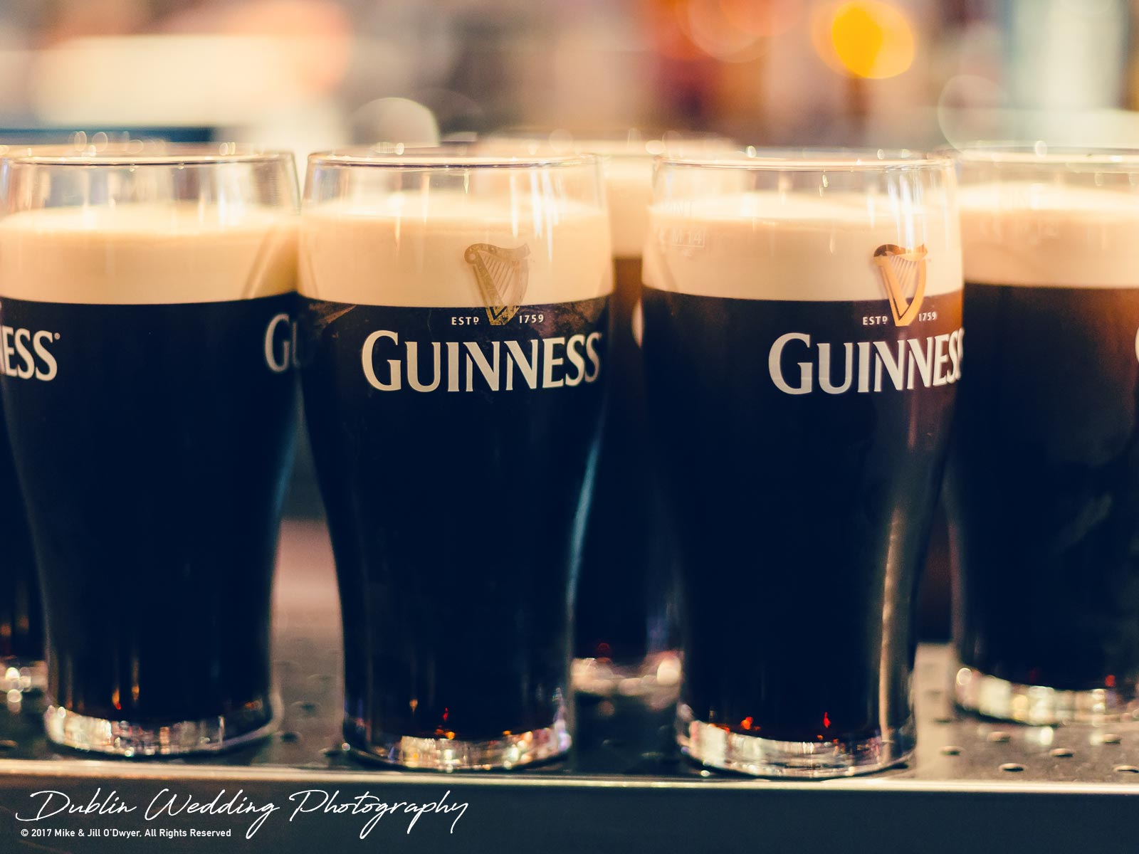 Moyvalley, Balyna House, Wedding Photographer, Kildare, Dublin, Pints of Guinness