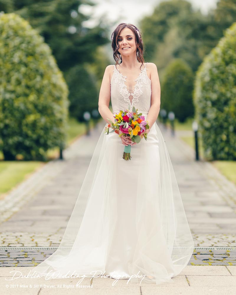 Moyvalley, Balyna House, Wedding Photographer, Kildare, Dublin, Beautiful Bride Full Length at Balyna