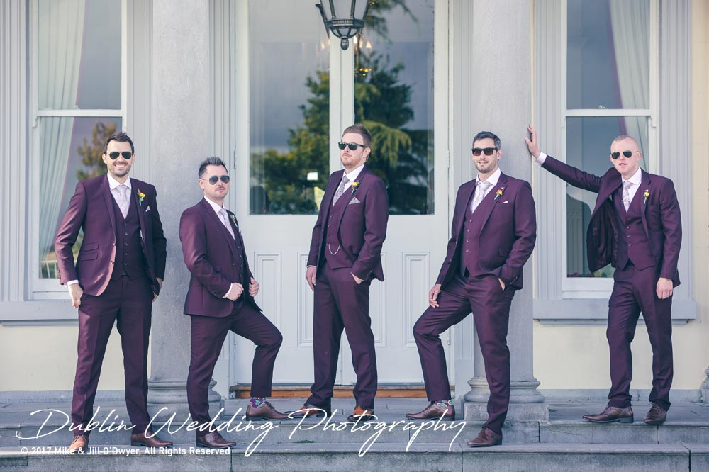 Moyvalley, Balyna House, Wedding Photographer, Kildare, Dublin, Groom & Groomsmen