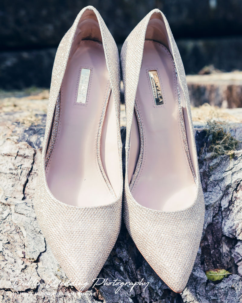 Bellingham Castle, Wedding Photographer, Louth, Dublin, Bride's Wedding Shoes