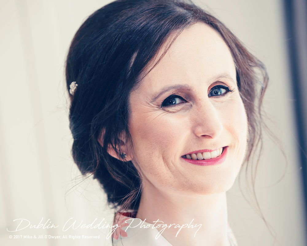 Bellingham Castle, Wedding Photographer, Louth, Dublin, Bride with Make Up Happy