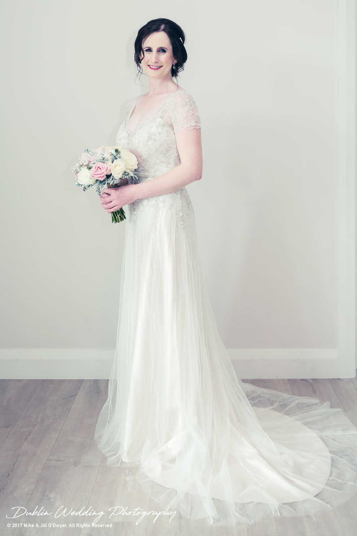 Bellingham Castle, Wedding Photographer, Louth, Dublin, Bride with Bouquet
