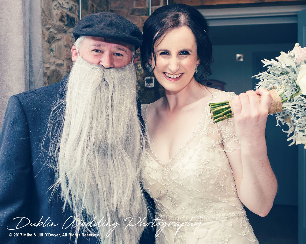 Bellingham Castle, Wedding Photographer, Louth, Dublin, Bride & Gandalf