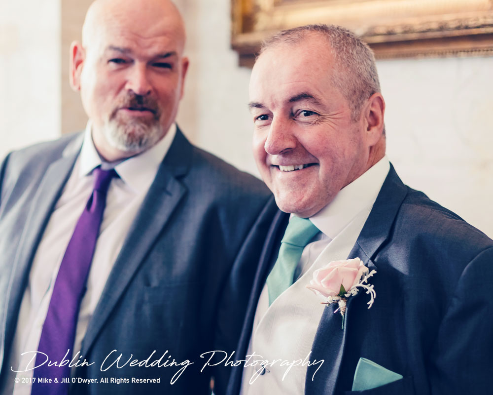 Bellingham Castle, Wedding Photographer, Louth, Dublin, Groom's father and Friend