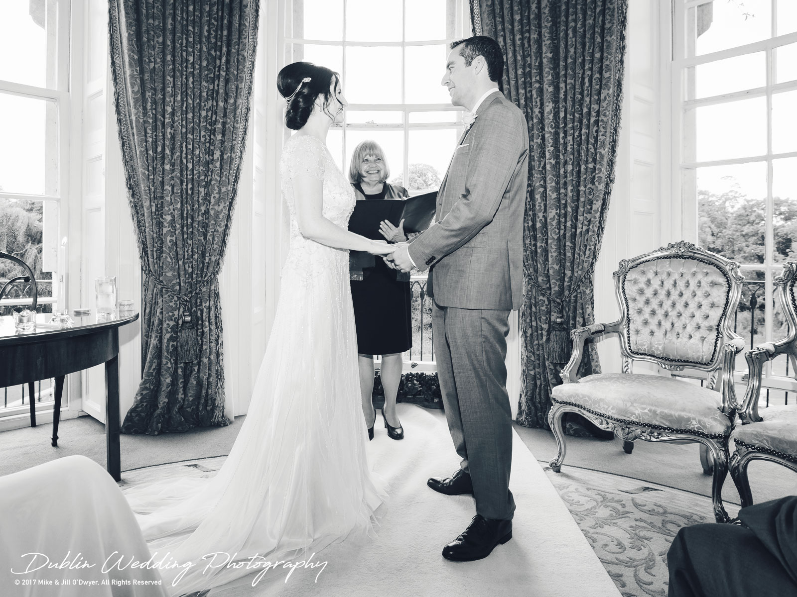 Bellingham Castle, Wedding Photographer, Louth, Dublin, Bride & Groom Making Vows