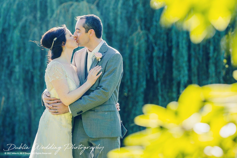 Bellingham Castle, Wedding Photographer, Louth, Dublin, Bride & Groom Kissing