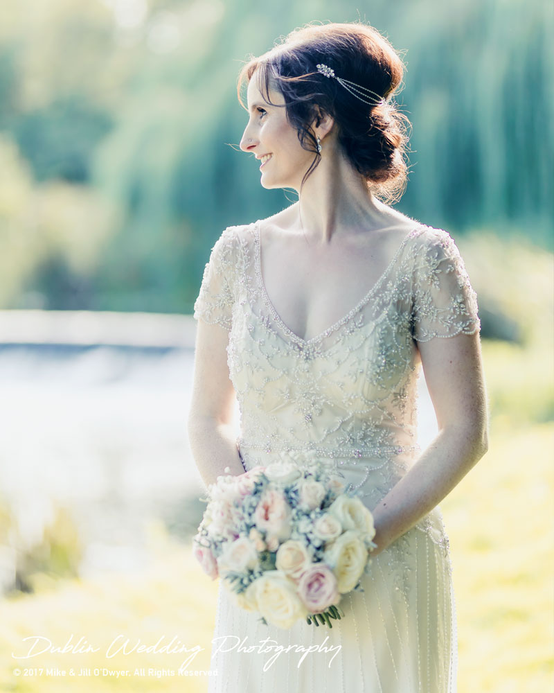 Bellingham Castle, Wedding Photographer, Louth, Dublin, Bride Looking Right