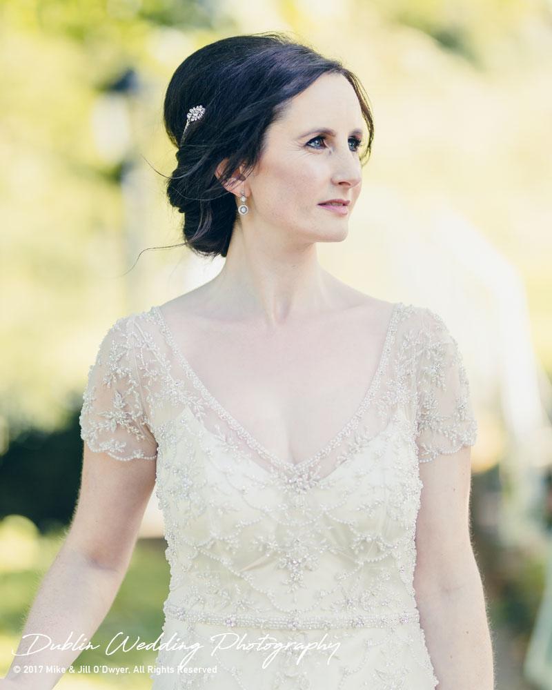Bellingham Castle, Wedding Photographer, Louth, Dublin, Bride Looking left