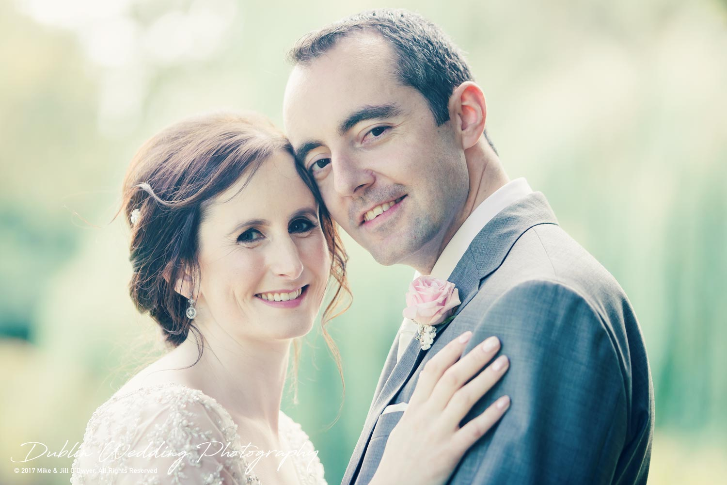 Bellingham Castle, Wedding Photographer, Louth, Dublin, Bride & Groom Smiling
