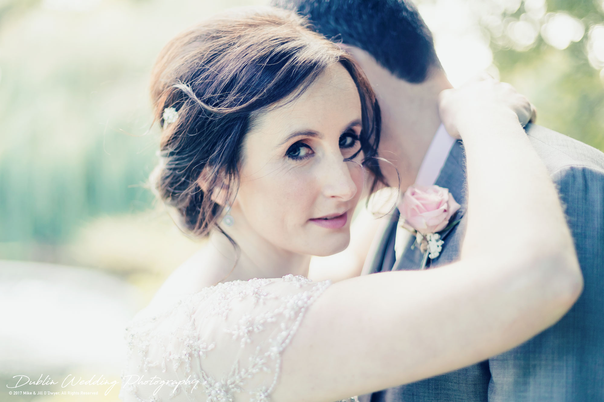Bellingham Castle, Wedding Photographer, Louth, Dublin, Bride & Groom Embraced in Love