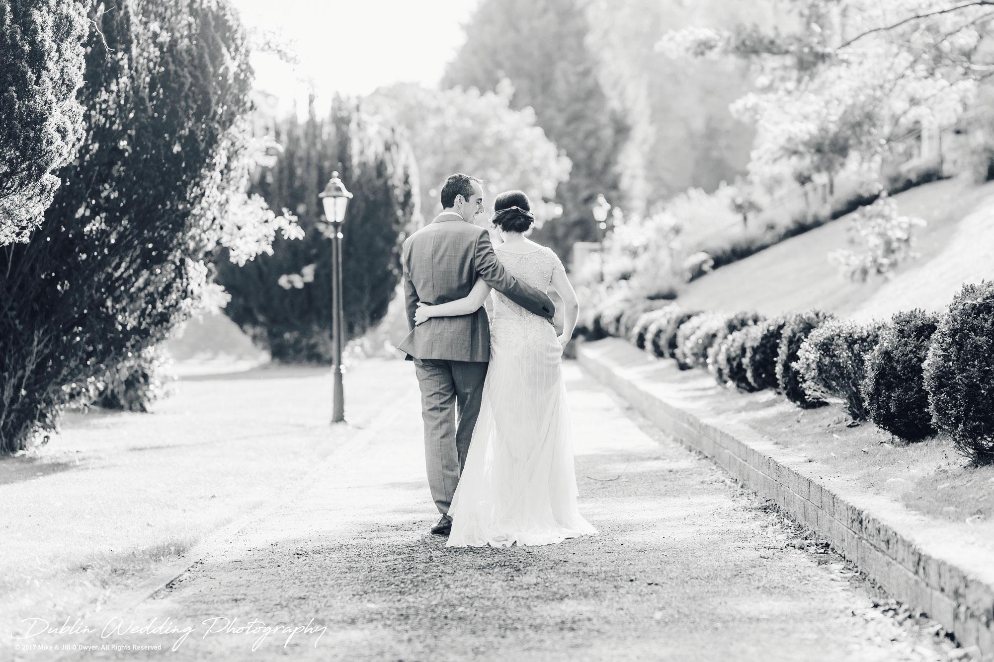 Bellingham Castle, Wedding Photographer, Louth, Dublin, Bride & Groom Walking to Castle reception