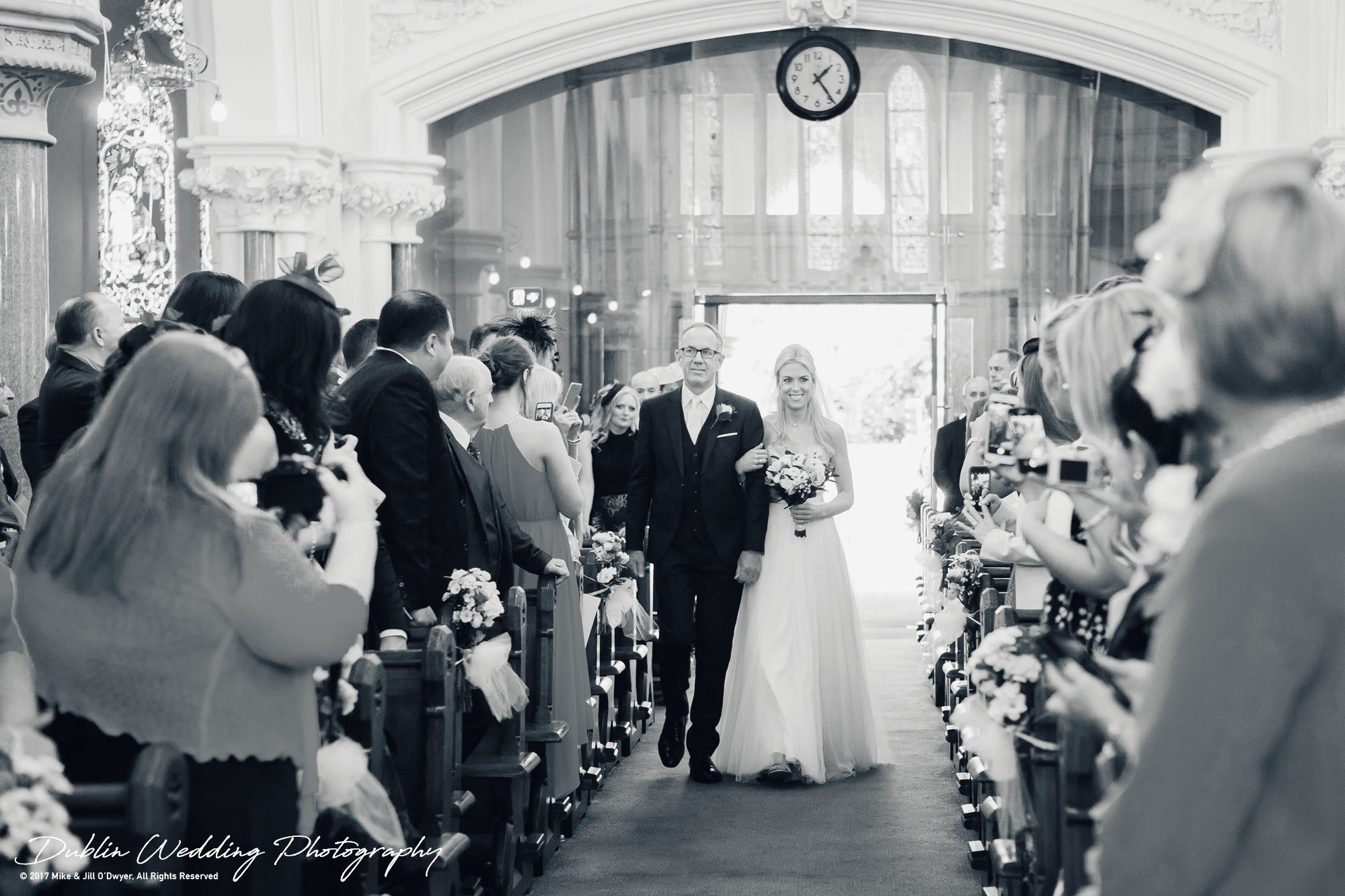 K Club, Kildare, Wedding Photographer, Dublin, Bride approaching the Groom with father