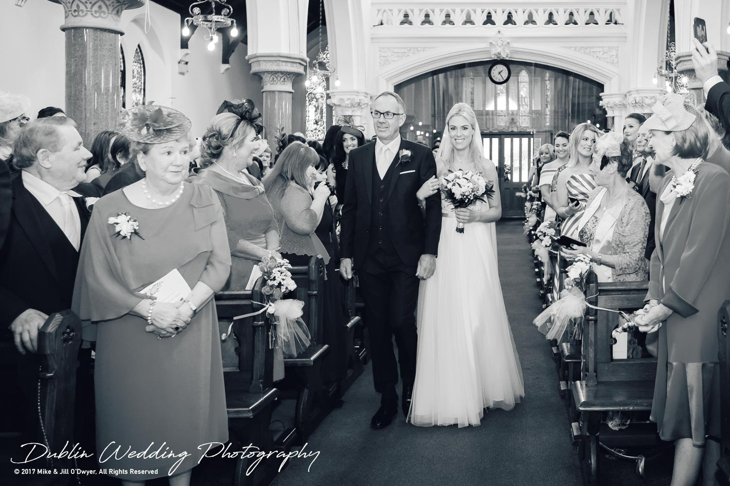 K Club, Kildare, Wedding Photographer, Dublin, Bride and Father walking up the aisle