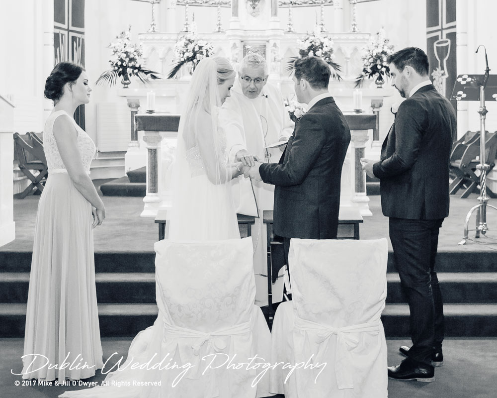 K Club, Kildare, Wedding Photographer, Dublin, Priest makes a Blessing for the Bride and Groom