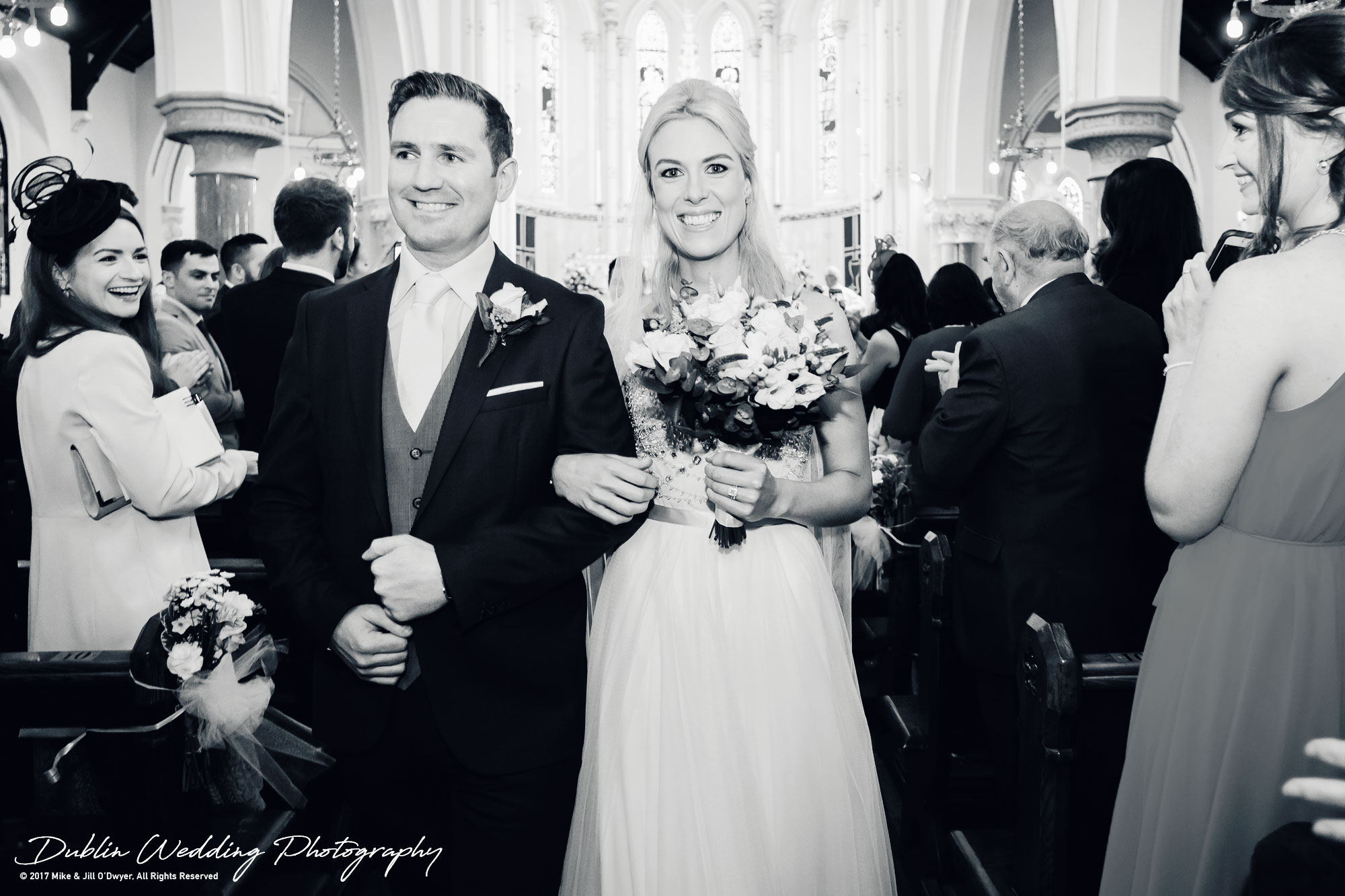 K Club, Kildare, Wedding Photographer, Dublin, Bride and Groom walking down the aisle together