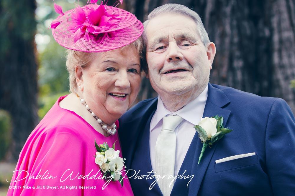 K Club, Kildare, Wedding Photographer, Dublin, Groom's parents outside the church