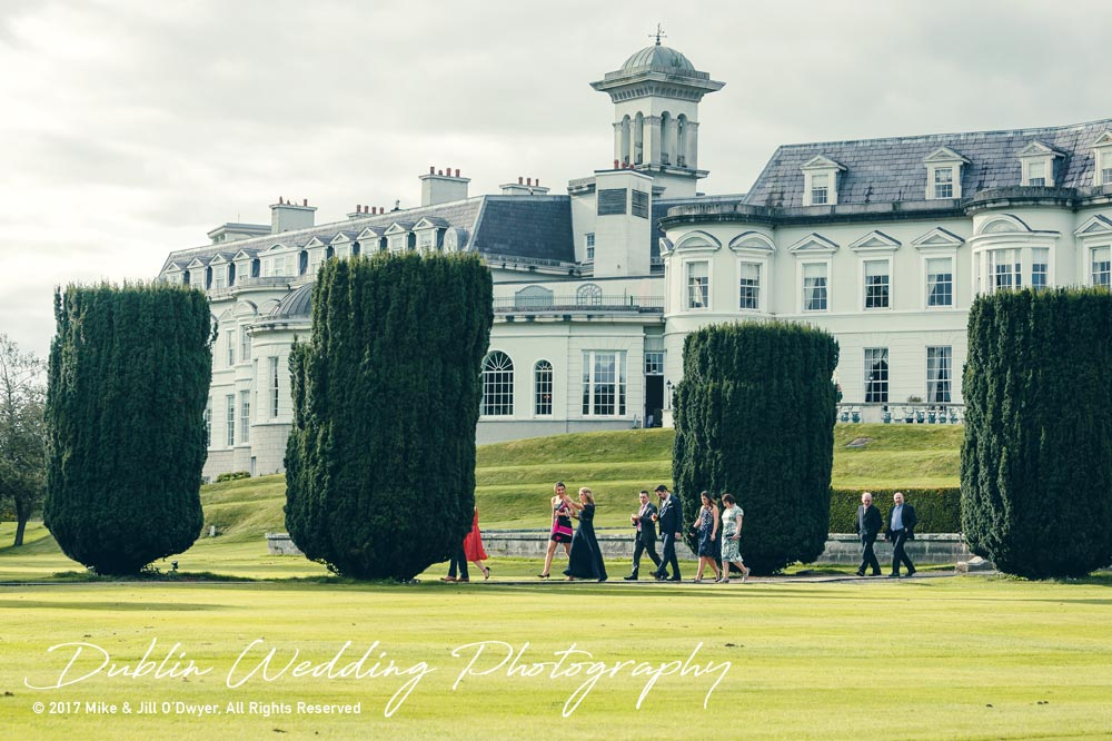 K Club, Kildare, Wedding Photographer, Dublin, Guests making their way to the evening reception