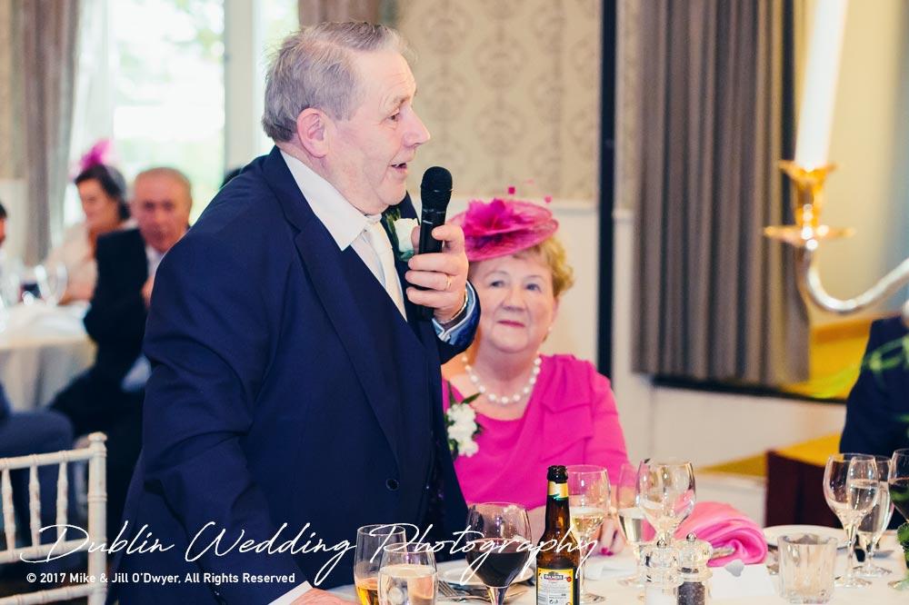 K Club, Kildare, Wedding Photographer, Dublin, Groom's Father giving a speech