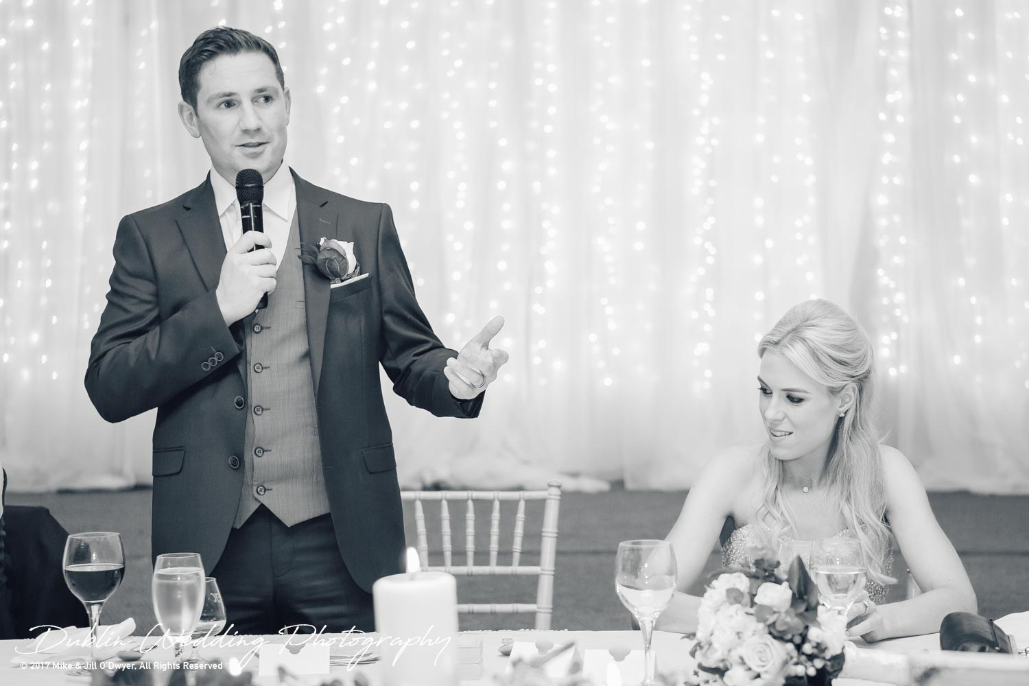K Club, Kildare, Wedding Photographer, Dublin, Groom giving his speech which was very moving