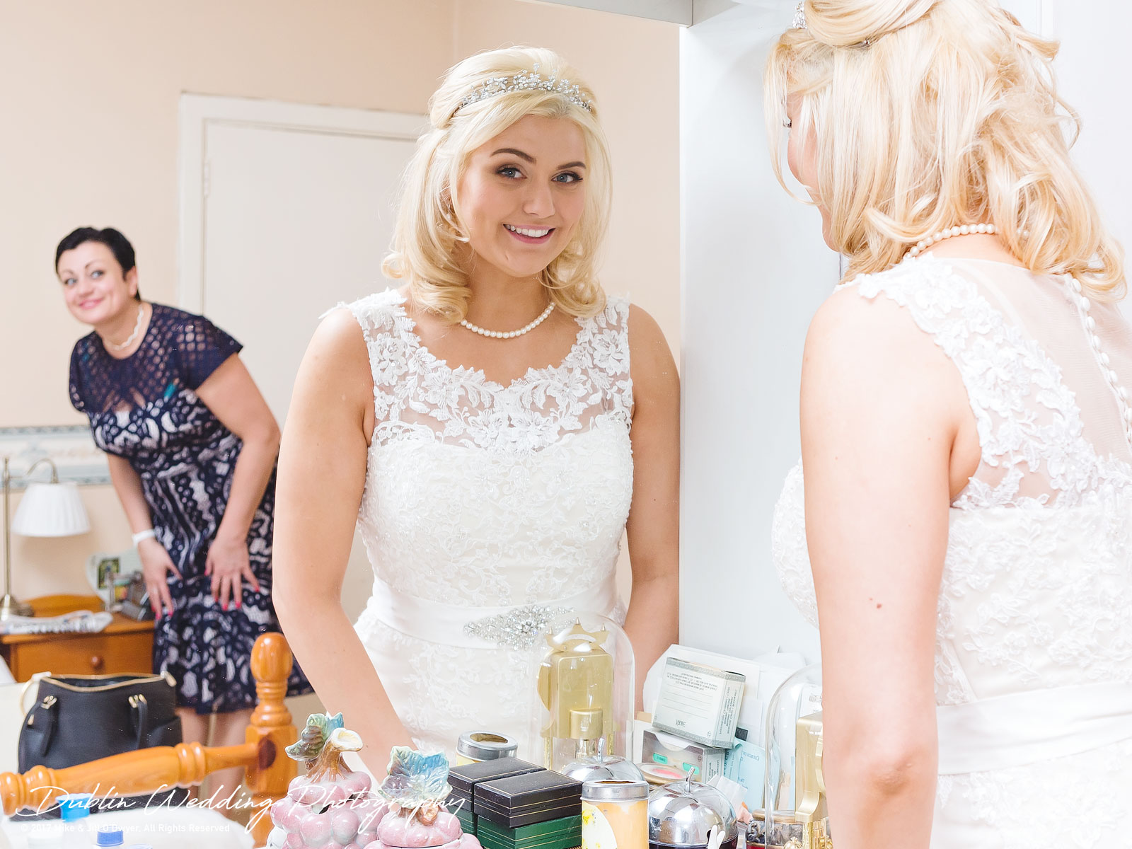 Wedding Photographer in Wicklow Glenview Hotel Bride Prep 03