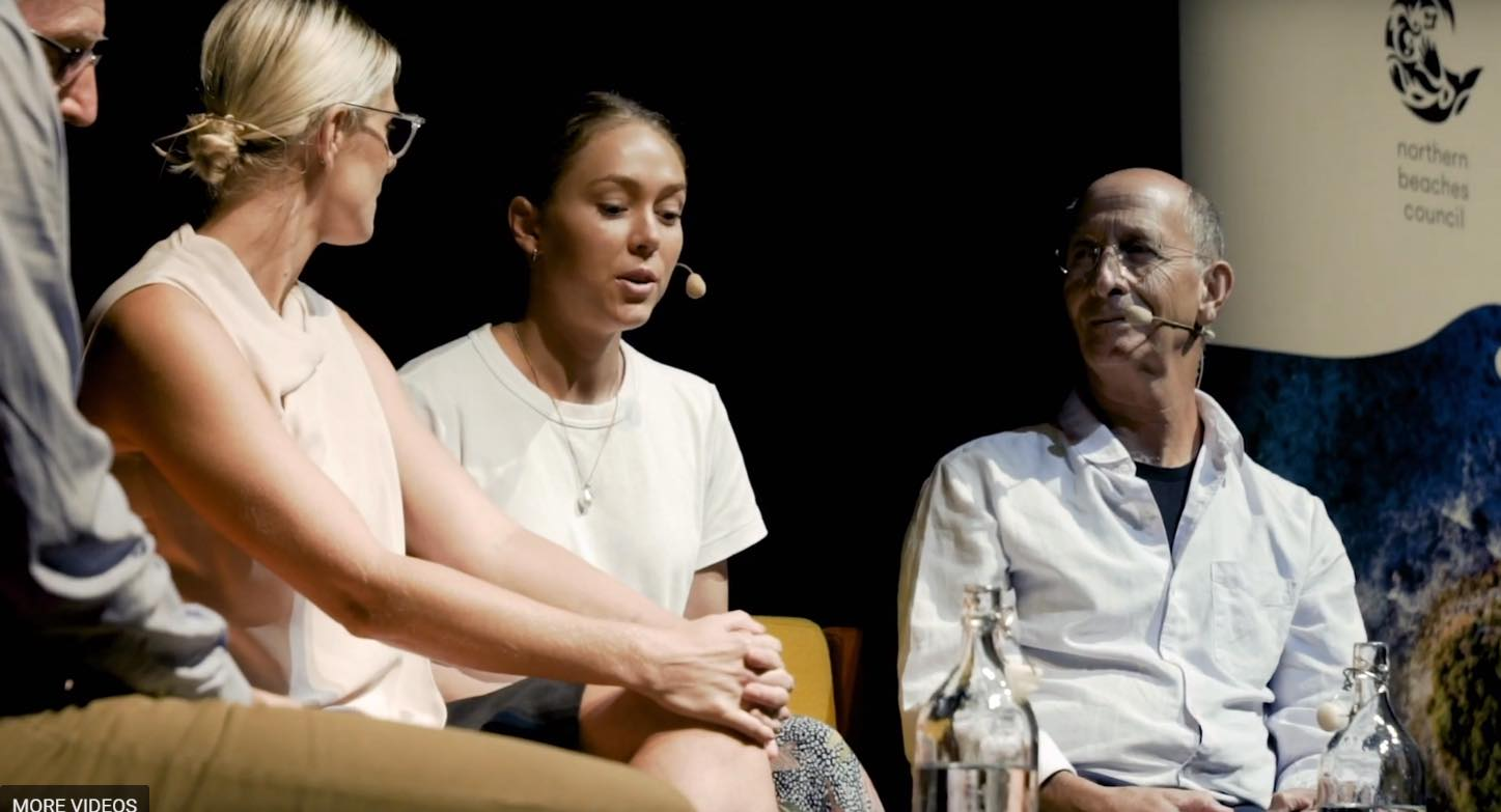 Our CEO Paris Jeffcoat (middle) speaking at the  March Big Ideas Panel  at Glen St Theatre alongside Hugh Mackay AO, Ilsa Bird, and Dr Stephen Ginsborg, GP.