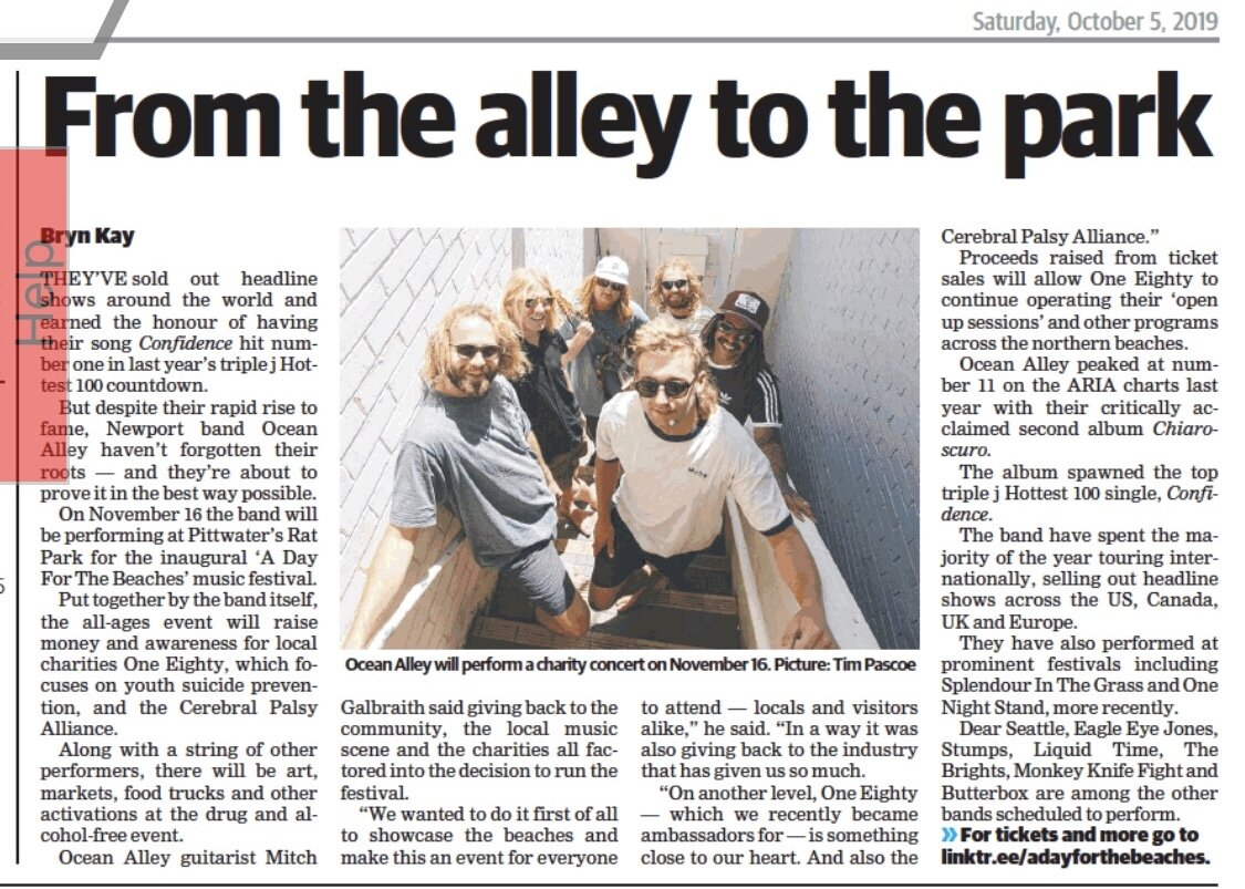 The Manly Daily  A Day For The Beaches + Ocean Alley Ambassador Announcement