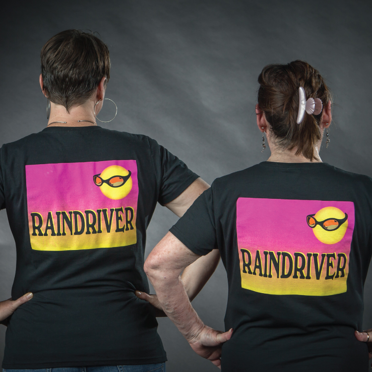 ... and the Raindriver full logo on the back