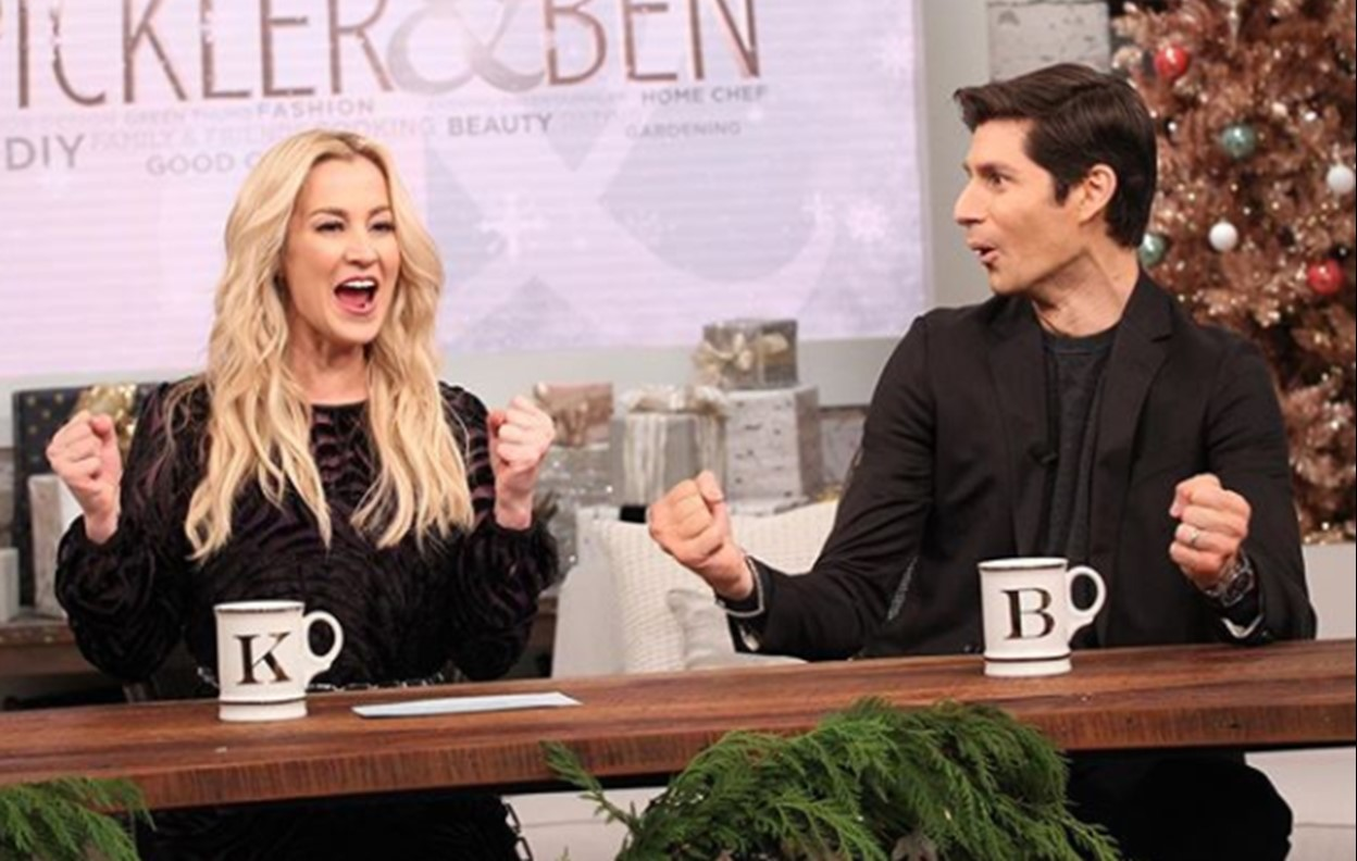 Kayley's new job is on the set of the show Pickler and Ben with Kellie Pickler!