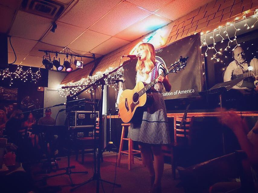 Kayley playing at the famous Bluebird Cafe in Nashville!