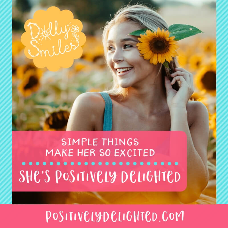 Who is the happiest person you know? The person who is so Positively Delighted by the simplest things in life? Tag them below and show them some love :)  Click below to learn more about The Dolly Smiles Project:  https://www.positivelydelighted.com/dollysmiles