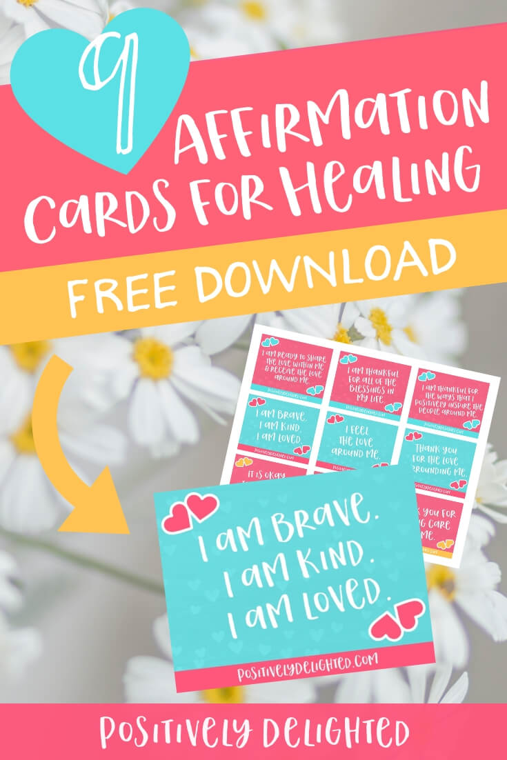 When you are going through the loss of a relationship, job, current way of life, or even your dream for the future, it is more than okay to hurt. It is okay to feel pain, sadness, anger, and everything in between. These emotions are powerful and will give you the strength to heal, when you are ready. Reciting these healing affirmations will help you start to shift your love and attention back to yourself. You are your own best healing buddy after all. #affirmations #printable #selflove