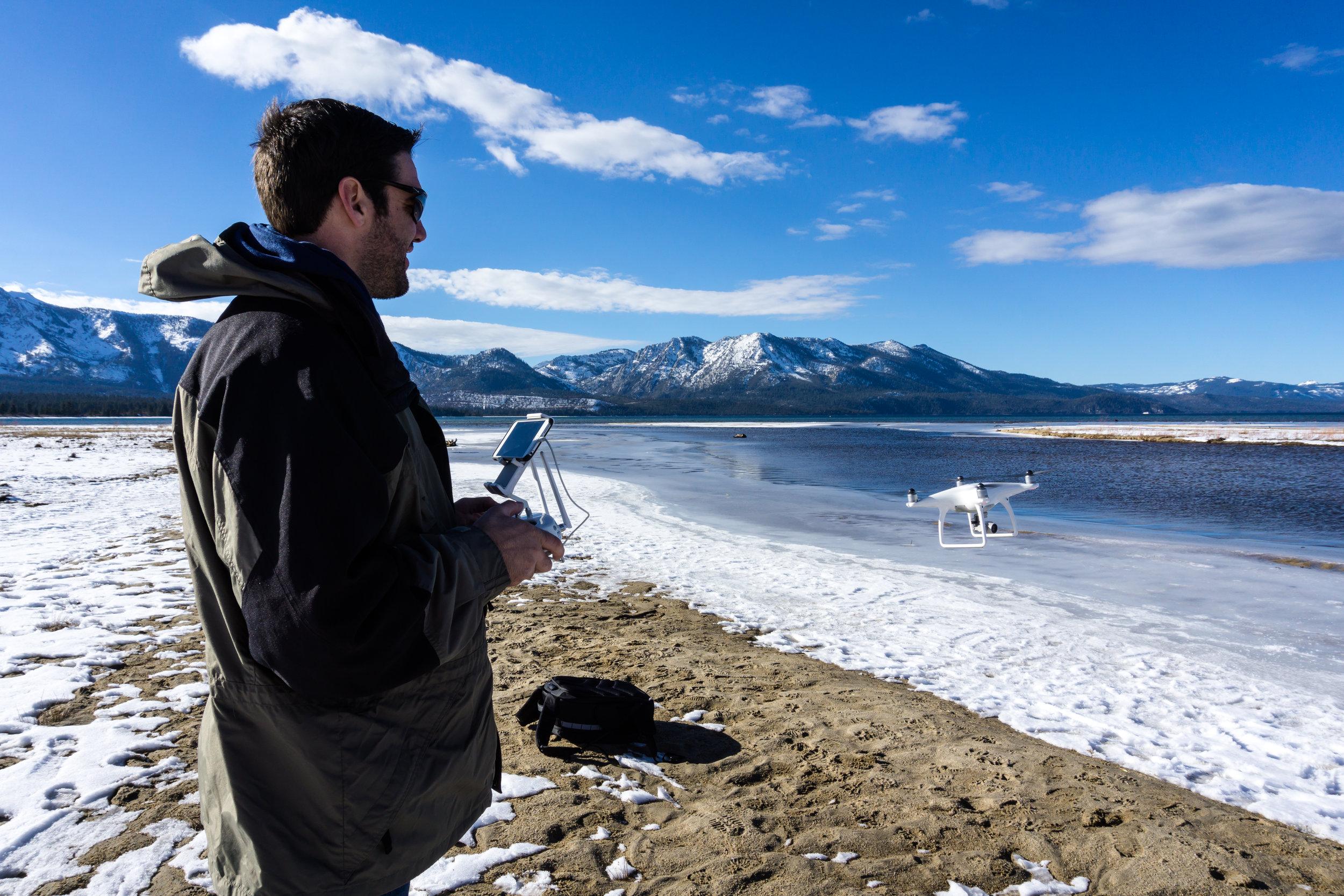 Flying a Phantom 4 on Lake Tahoe