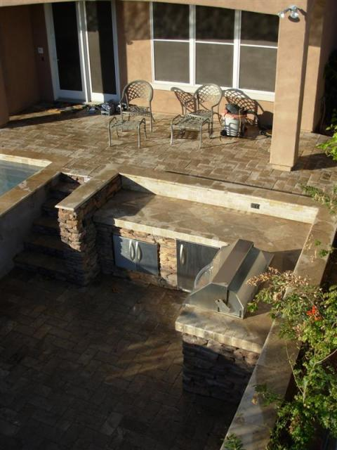 Custom BBQ with Travertine cap.jpg