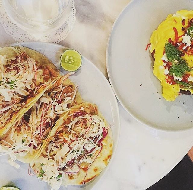 Tuesday's are for Taco's : take your pick from our tasty Bandidos tacos (fresh snapper) or Pocket Cowboys tacos (pulled jackfruit) - accompanied with slaw, pickled mango & special house sauces 🌮💥👌🏼❤️ // 📷@ms.katarzyna_anne